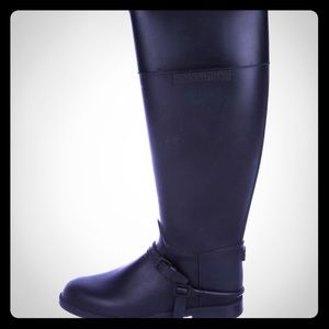 Givenchy knee high rubber riding boots
